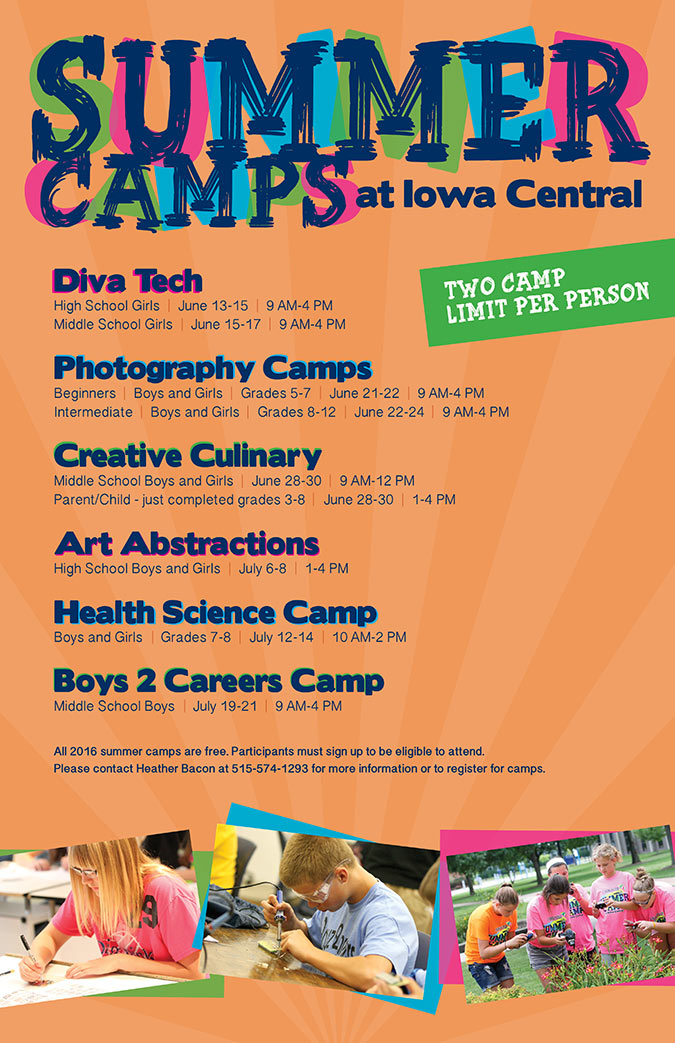 Iowa Central Youth Summer Camps For 2016 Announced