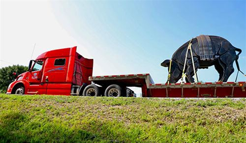 Tritons help transport Floyd of Rosedale